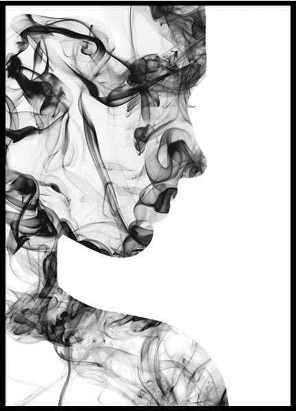 ABSTRACT FACE, POSTER