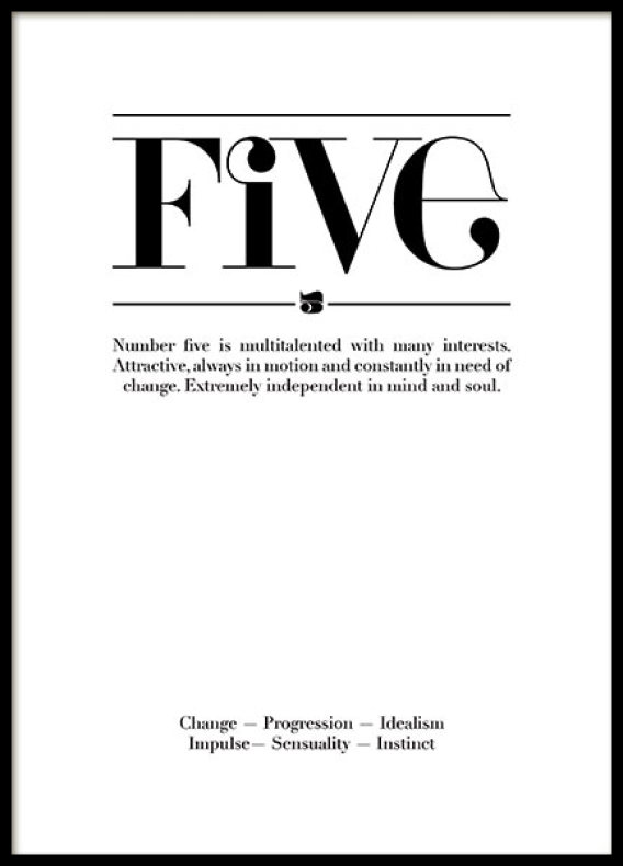 FIVE, POSTER