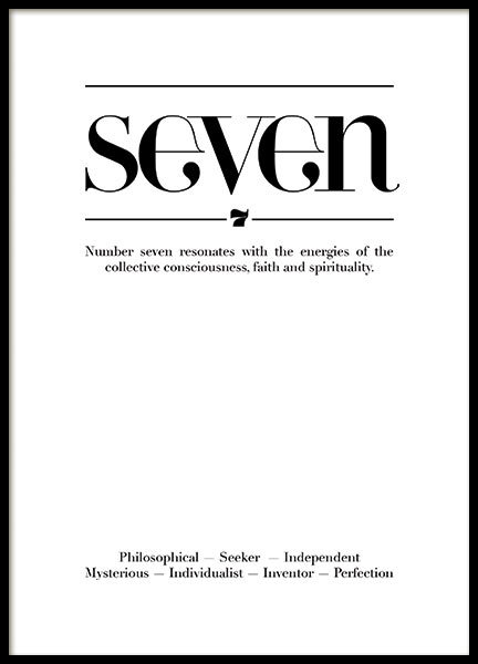 SEVEN QUOTE, POSTER
