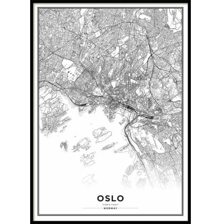 Poster, Oslo Map